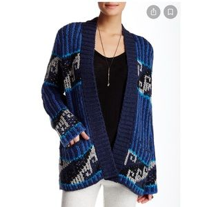 Free People Time Again Patterned Cardigan Sweater